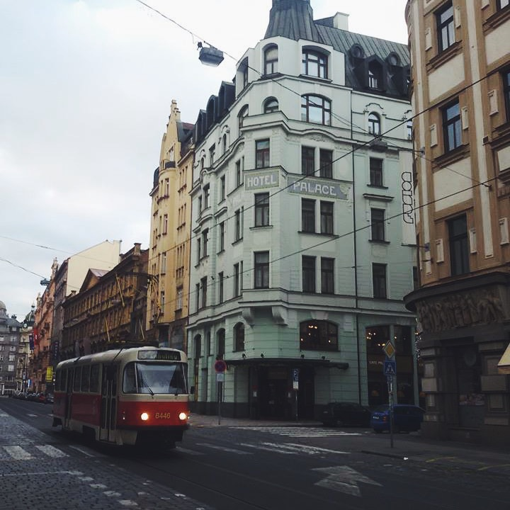 My most favorite view in Prague: the tram