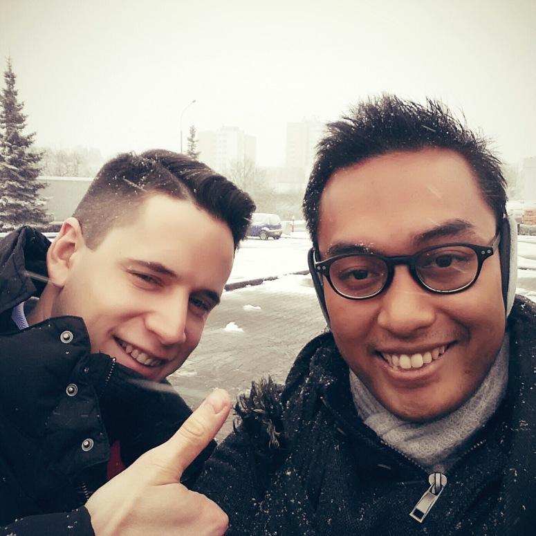 A snowy ride with Przemysław