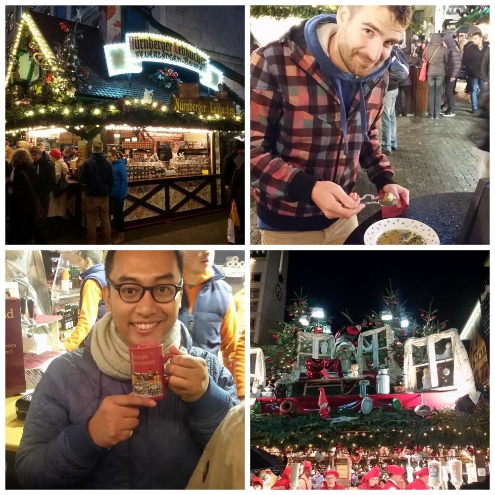 Christmas market tour with my friend in Stuttgart