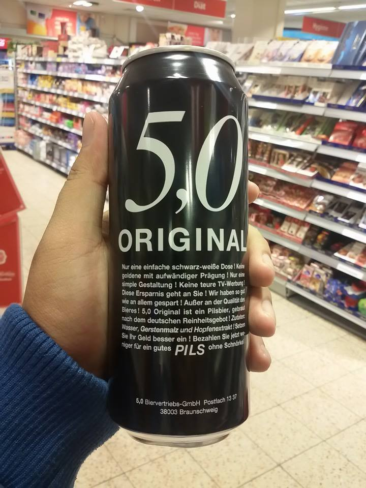 50 cent for 0.5 litre!
