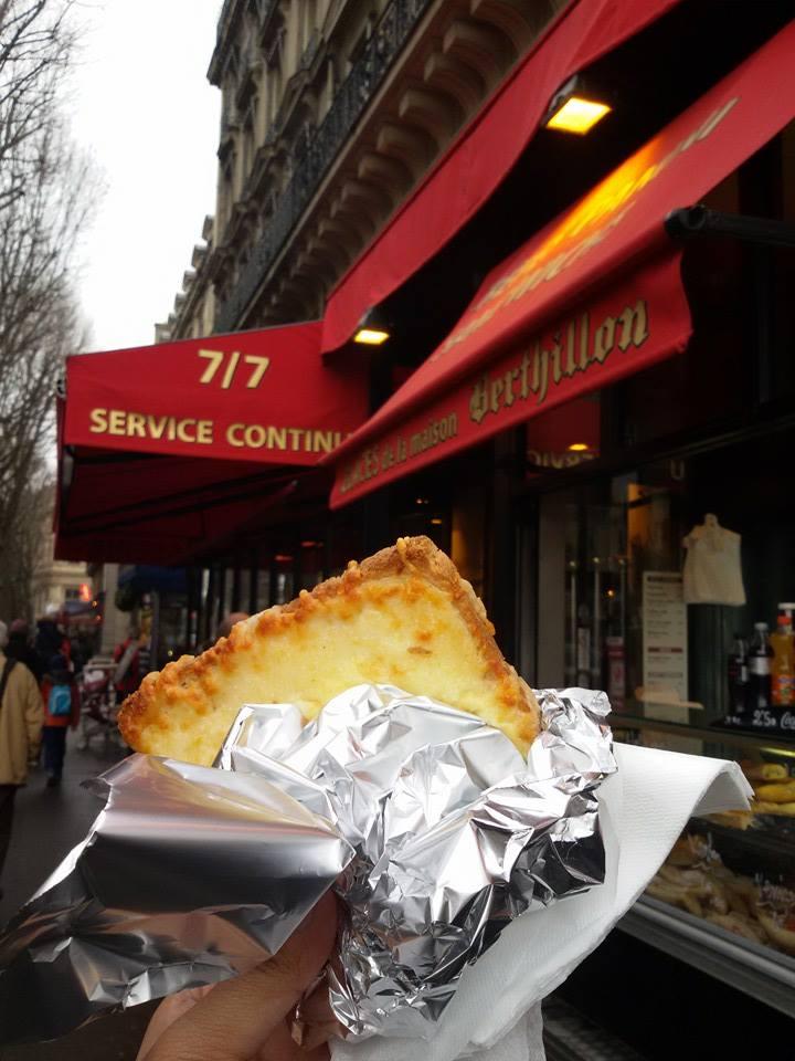 Croque monsieur near the Notre Dame