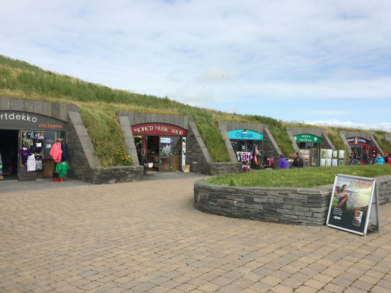 Cliff of Moher - The 'teletubbies' shops