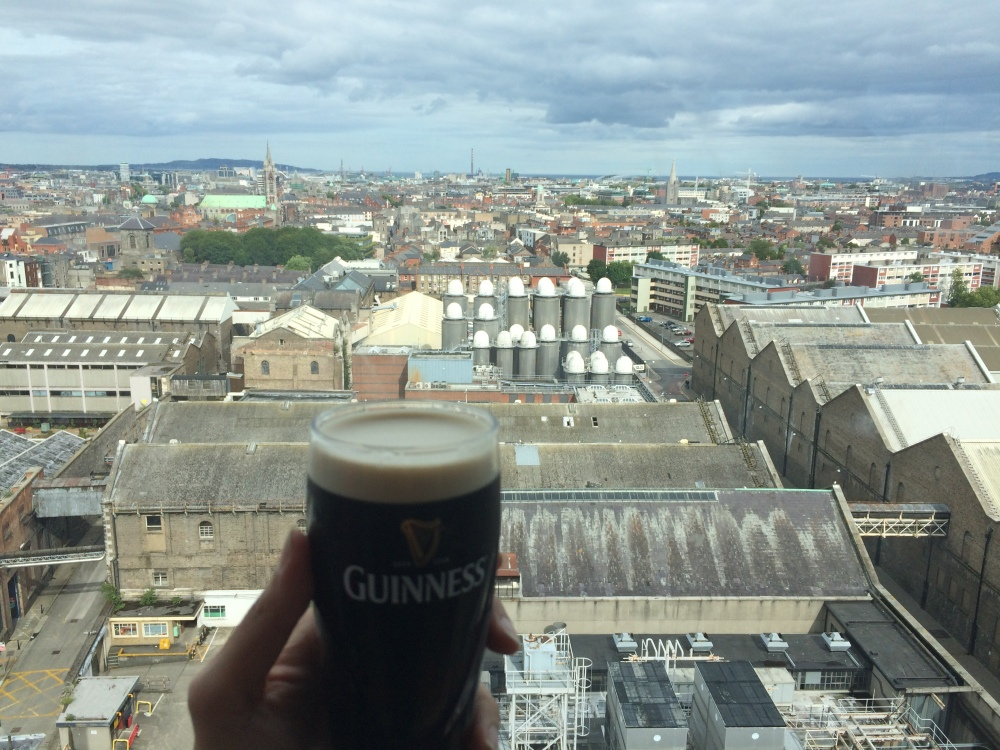 Guiness Storehouse - Drinking with a view